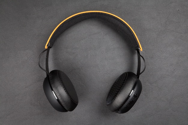 Zwarte draadloze hoofdtelefoon