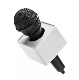 Zwarte draadloze microfoon