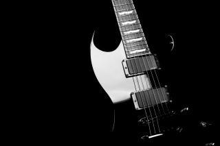 Zwarte elektrische gitaar