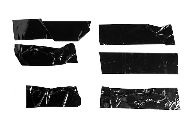 Zwarte elektrische tape geïsoleerde set