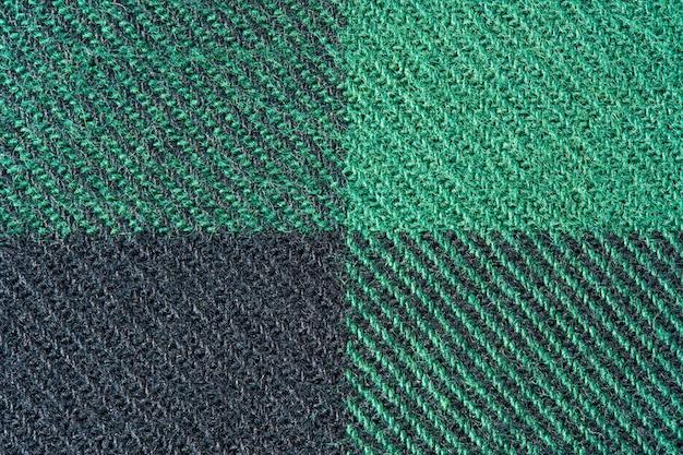 Zwarte en groene stoffentextuur