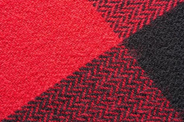 Zwarte en rode stoffentextuur