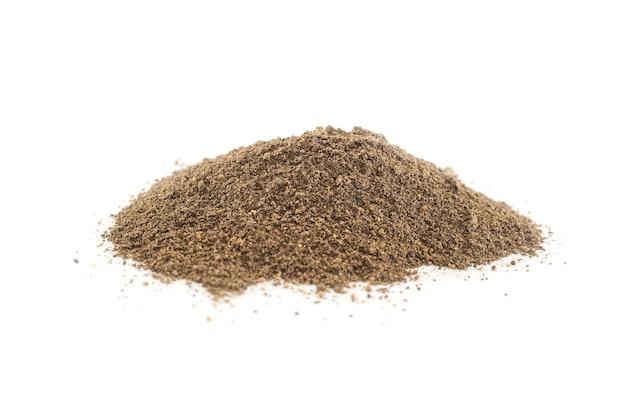Zwarte gemalen peper