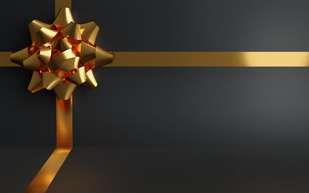 Zwarte geschenkdoos achtergrond