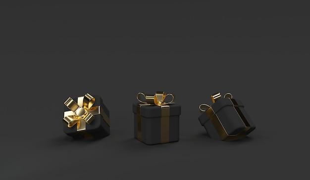 Zwarte geschenkdoos scène