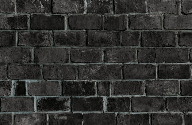 Zwarte geweven bakstenen muurachtergrond