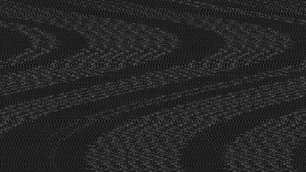 Zwarte glitch digitale ruiseffect textuur achtergrond