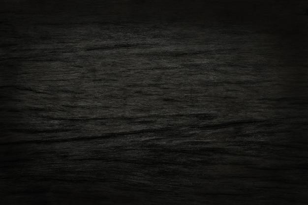 Zwarte houten muurachtergrond, textuur van donker schorshout met oud natuurlijk ontwerp
