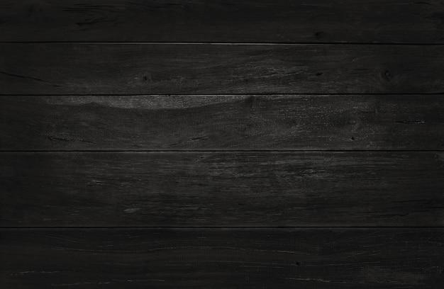 Zwarte houten muurachtergrond, textuur van donker schorshout