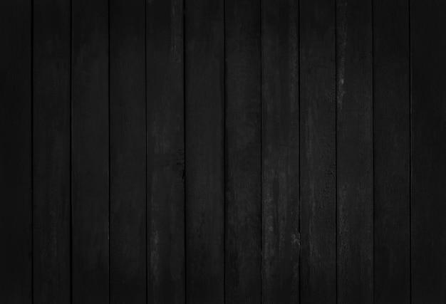 Zwarte houten muurachtergrond