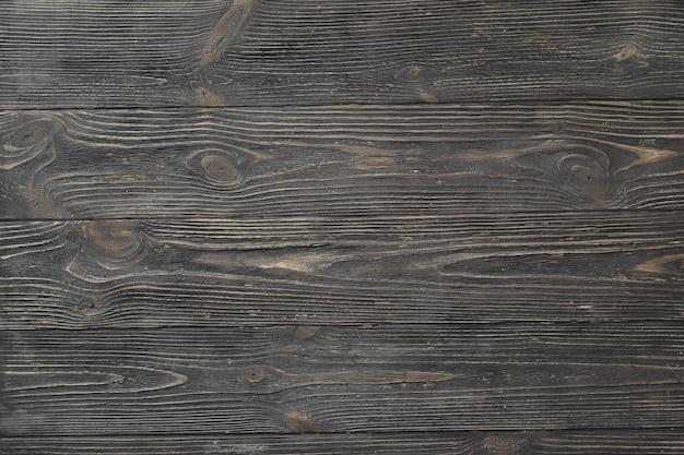 Zwarte houten textuur