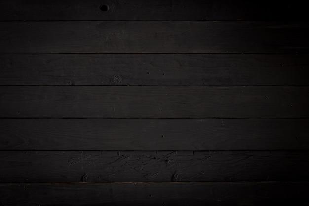Zwarte houten textuurspatie als achtergrond voor ontwerp