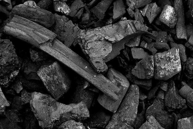 Zwarte houtskool textuur achtergrond