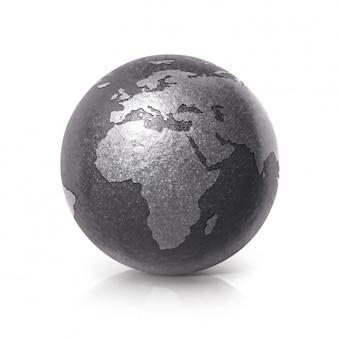Zwarte ijzeren earth globe