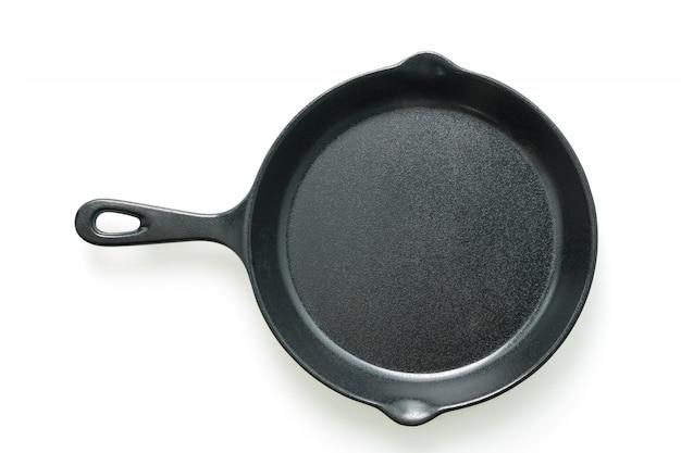 Zwarte ijzeren pan