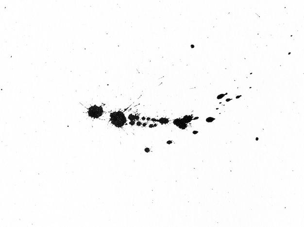 Zwarte inktvorm op aquarel papier textuur