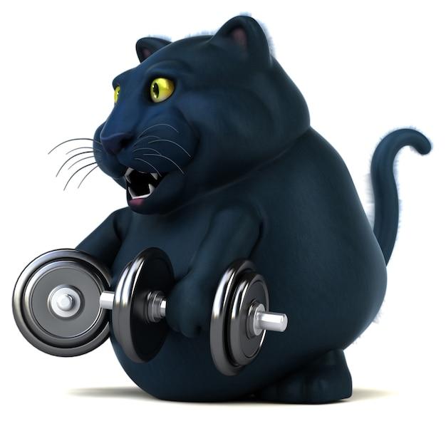 Zwarte kat - 3d illustratie