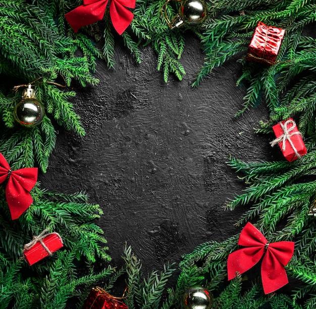 Zwarte kerst achtergrond.