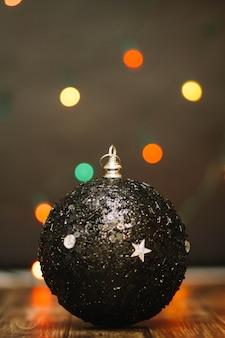 Zwarte kerstbal