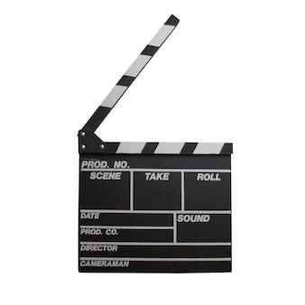 Zwarte klepel bord geïsoleerd op een witte achtergrond