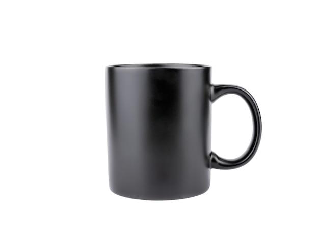 Zwarte koffiemok geïsoleerd