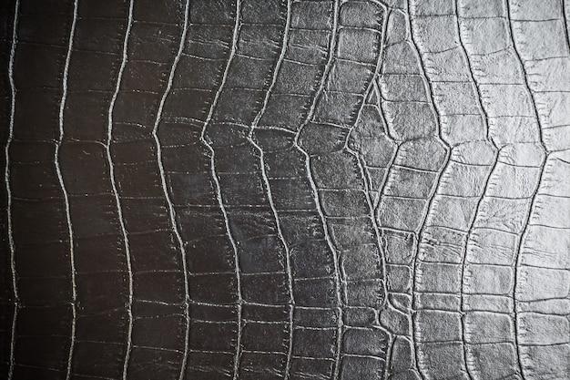 Zwarte lederen texturen