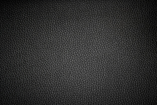 Zwarte lederen textuur en achtergrond