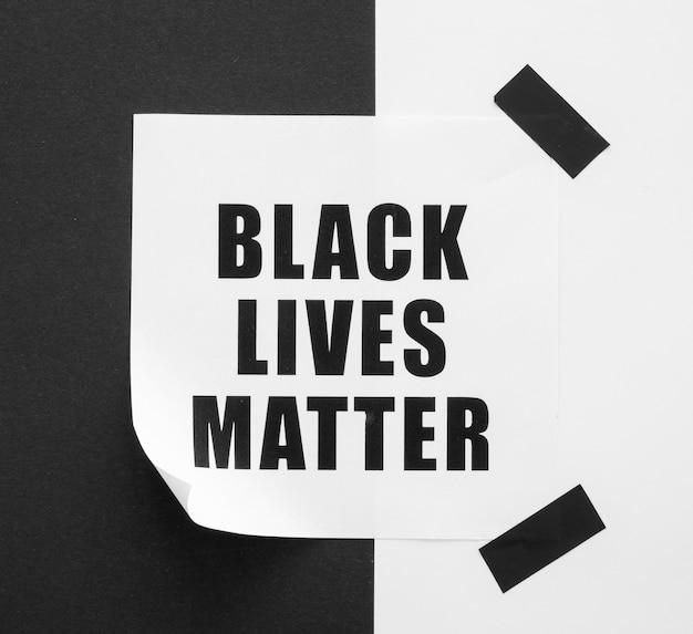 Zwarte levens doen er toe met zwart en wit