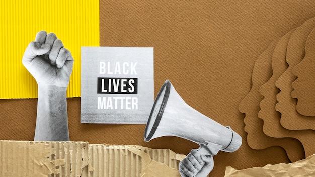 Zwarte levens zijn belangrijk concept met gezichten