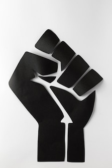 Zwarte levens zijn belangrijk concept met zwarte vuist