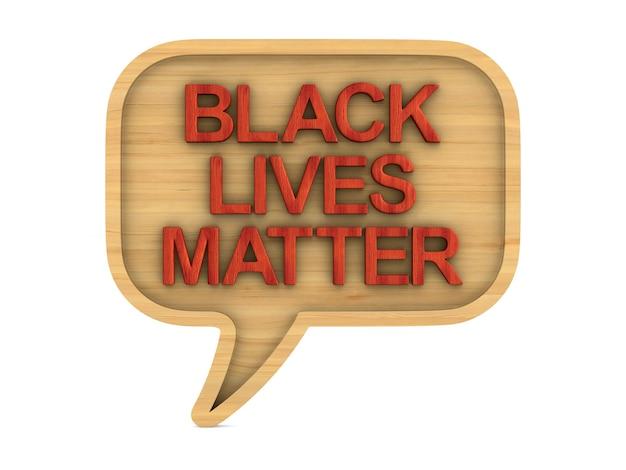 Zwarte levens zijn belangrijk. geïsoleerde 3d-weergave