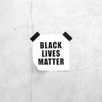 Zwarte levens zijn belangrijk op een betonnen ondergrond