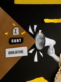 Zwarte levens zijn belangrijk voor beweging met een boodschap