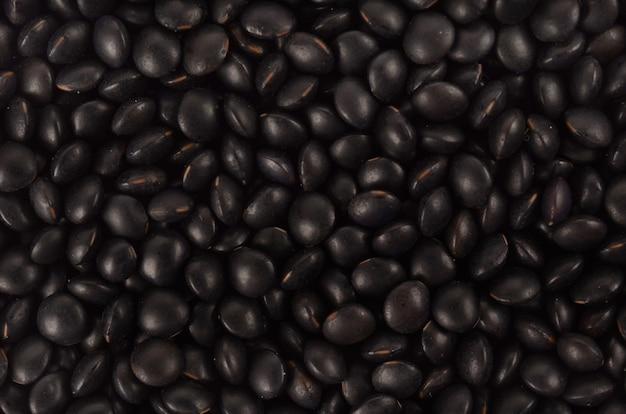 Zwarte linzen close-up