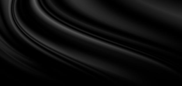 Zwarte luxe stof achtergrond met kopie ruimte