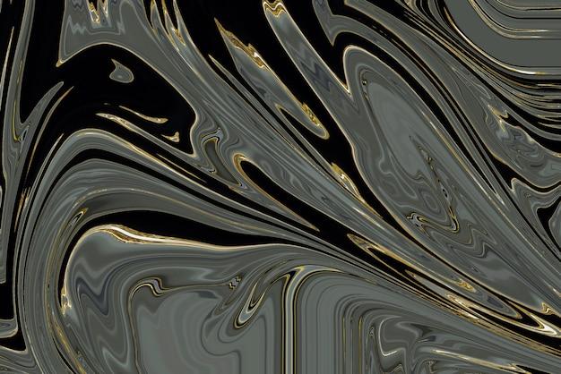 Zwarte marmeren achtergrond met gouden voering