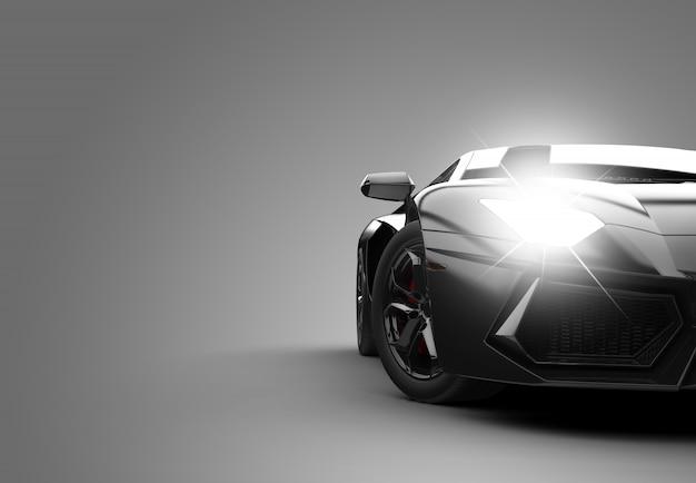 Zwarte moderne sportwagen