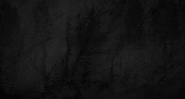 Zwarte muur textuur ruwe achtergrond donkere betonnen vloer of oude grunge achtergrond met zwart