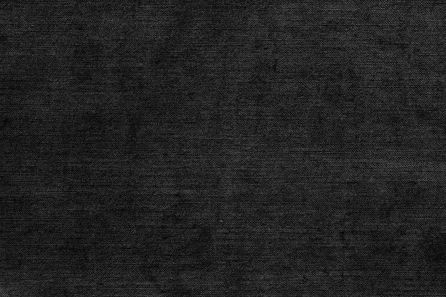 Zwarte natuurlijke linnentextuur als canvas om te schilderen