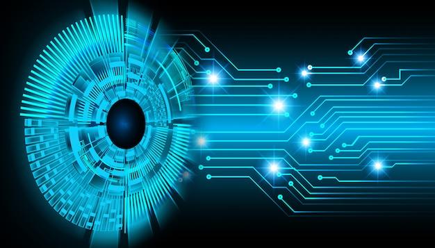 Zwarte oog cyber circuit toekomstige technologie concept achtergrond