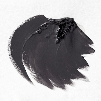 Zwarte penseelstreek op witte achtergrond