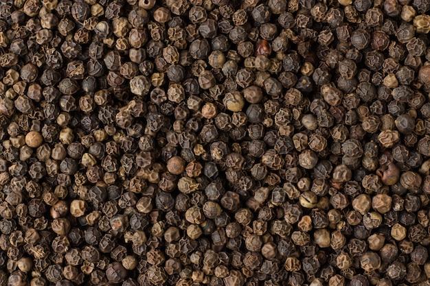 Zwarte peper korrels