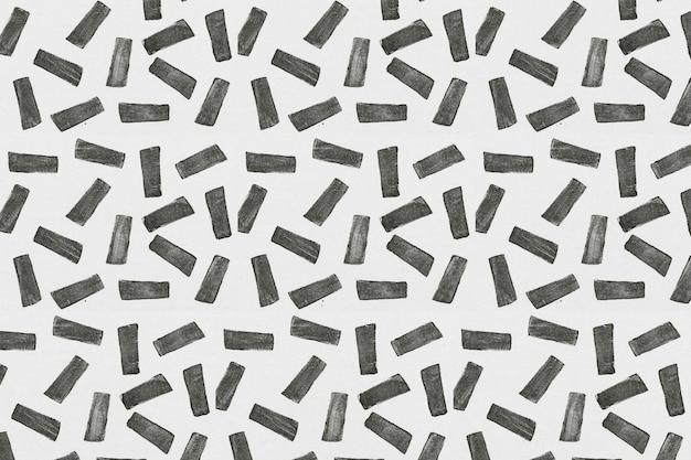 Zwarte rechthoek blok print patroon achtergrond