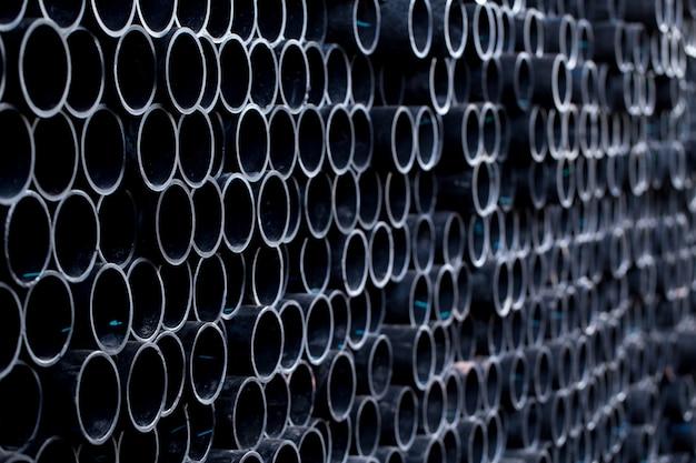 Zwarte rubberen buis pvc flex-buis of industriële slang voor transport van olie-brandstofolie-overdracht.