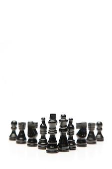Zwarte schaakstukken