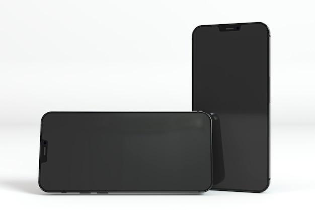 Zwarte smartphones nieuw telefoonconcept