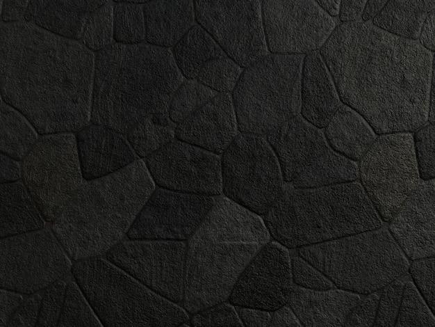 Zwarte stenen muur textuur achtergrond.