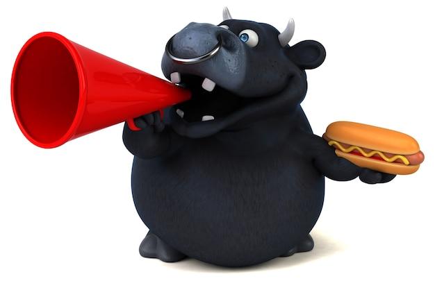Zwarte stier - 3d illustratie