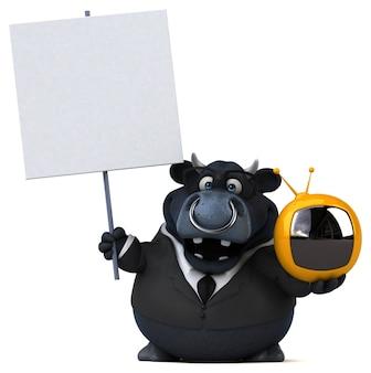 Zwarte stier illustratie