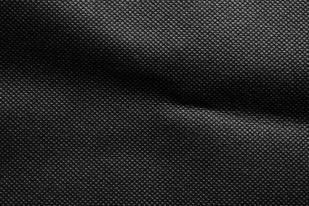 Zwarte stof doek textuur patroon achtergrond